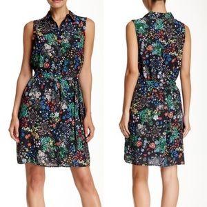 NWT Alexia Admor Floral Sleeveless Shirt Dress